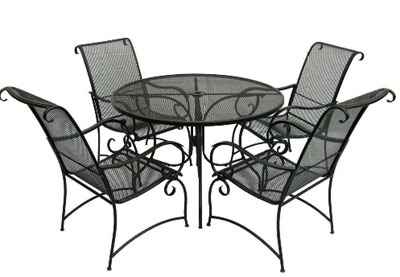 Grafton Charcoal 5 Pc Dining Set $358.99, (reg $599) At Home Depot Wrought  Iron Frame And Mesh Table Top; Orders Over $249 Ship To Your Home, For Free.