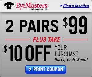 2 pairs of glasses for $99