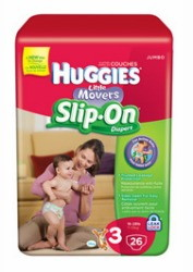 Save $3.00 on 2 Huggies Little Movers Slip-On Diapers
