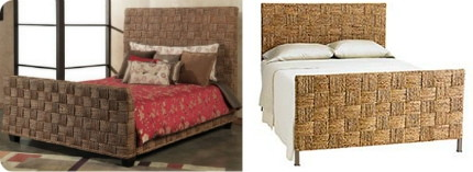 Knockout Knockoffs Natural Seagrass Headboard Bed