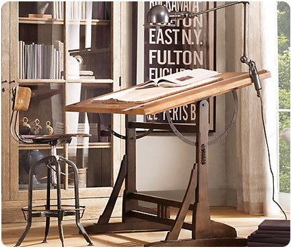 You Can Recreate This Modern, Industrial Chic Workspace Inspired By Restoration  Hardware For A Fraction Of The Cost. The Key Elements In This Design  Include ...