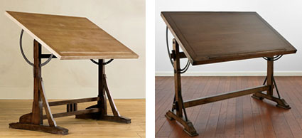 Knockout Knockoffs Restoration Hardware Drafting Table