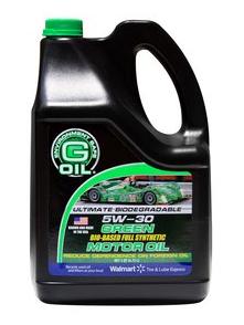 Five Quarts Of G Oil Green Motor Oil Free At Walmart