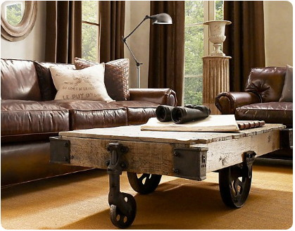... Donu0027t Want To Pay $1.5k For A Factory Cart Coffee Table Or $9k For  Bounded Italian Leather, Where Would I Go? IKEA Doesnu0027t Have Quite The Same  Style.