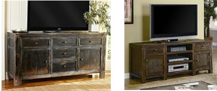 the dawson media console features a weathered black finish with ample storage space pottery barnu0027s price for the large cabinet is