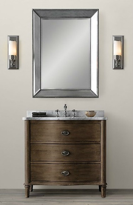 Knockout knockoff restoration hardware empire rosette Empire bathrooms