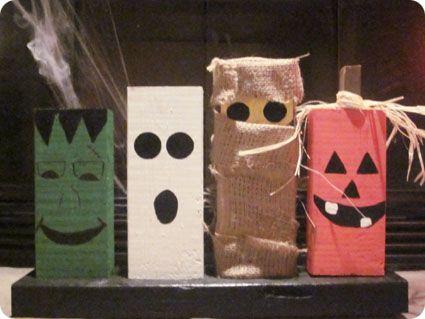 Halloween Decor On A Dime Diy Spooky Characters