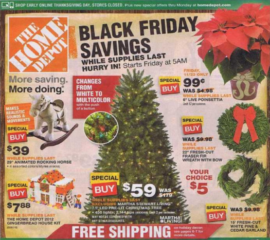 Home Depot Black Friday Ad 2012