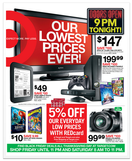 Target Black Friday Ad 2012