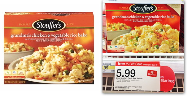 Stouffer's Family Size Meals, Only $1.99 at Target!