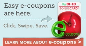 Save with e-Coupons at BI-LO!