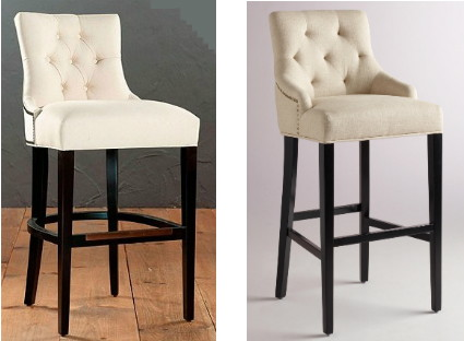 The Gentry Bar Stool from Ballard Designs features gently-curved arms a tufted back and nail head trim. There are a number of fabric and wood finish ... & Knockout Knockoffs: Bar Stools from Pottery Barn Ballard Designs ... islam-shia.org