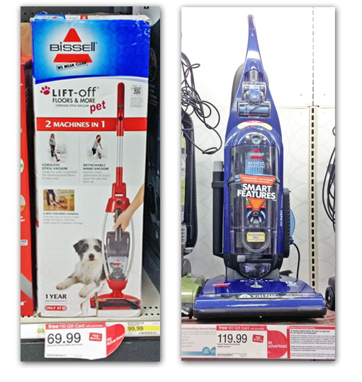 bissell vacuums are on promotion at target through this saturday january 5th receive a or target gift card depending on which vacuum you