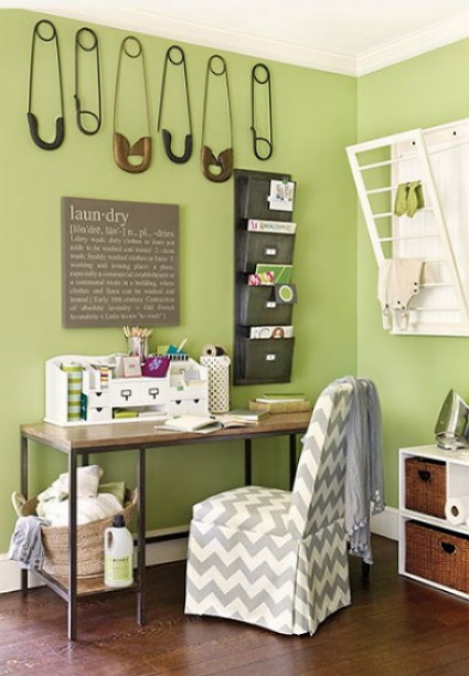 the durham laundry room by ballard designs is a dream come true for those that crave a simple design with interesting style - Ballard Design Desks