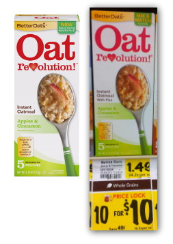 Better Oat's Oatmeal, Only $0.67 at BI-LO!