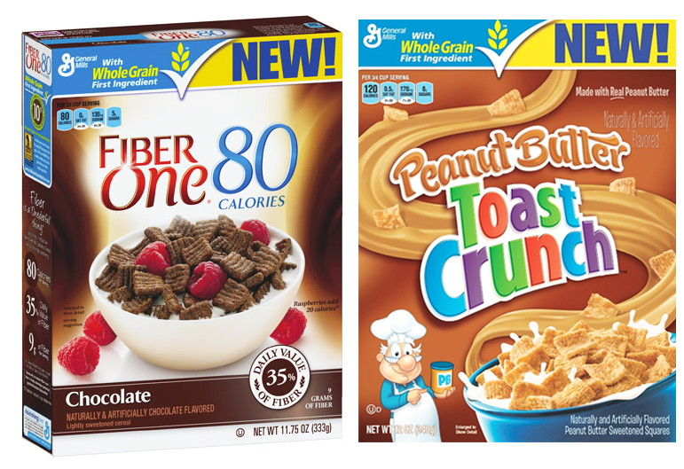 Peanut Butter Toast Crunch and Fiber One Chocolate Cereal, Only $0.10 at Target!