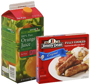 Jimmy Dean Sausage and 100% Orange Juice, Only $1.49 Each at Safeway