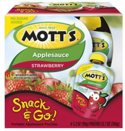 Motts Snack & Go Applesauce Coupon—Save $1.10!