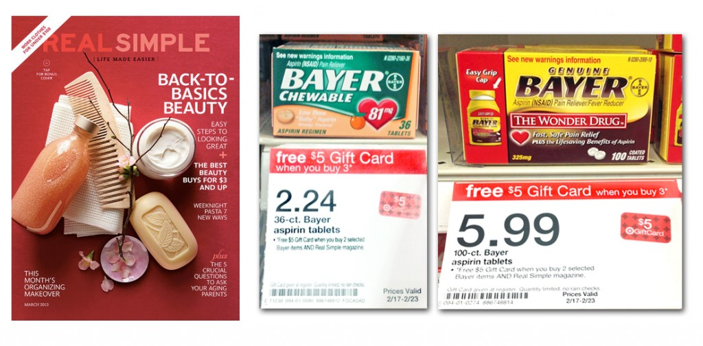Real Simple Magazine and Bayer, as Low as $0.66 at Target!