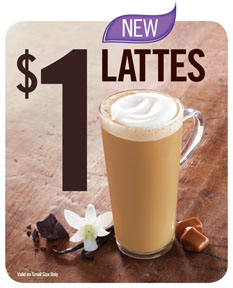 burger king lattes deal