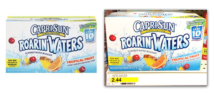 Capri Sun Roarin' Waters Coupon & Ibotta Offer---$1.14 at Target!