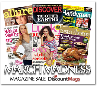 Reader's Choice! Select 5 Magazine Subscriptions for $19.97!