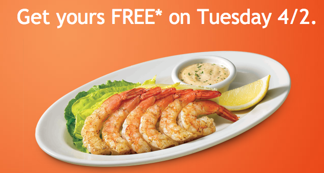 outback free shrimp