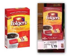 Free Folgers Instant Coffee at Kroger!