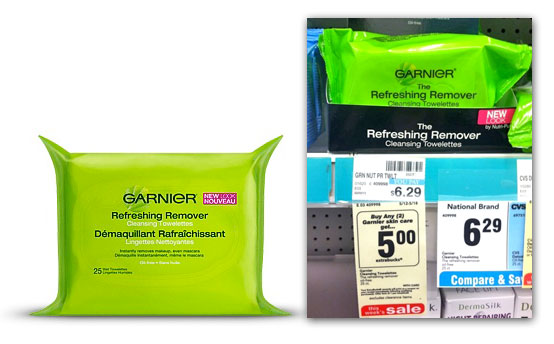 Garnier Cleansing Towelettes, Only $1.29 at CVS!