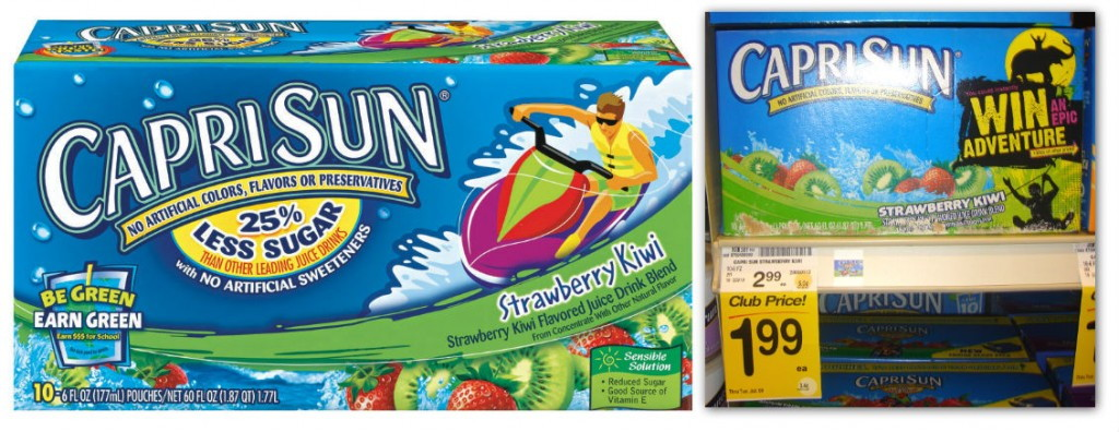 Capri Sun Coupon 10 Pack Pouches Only 1 49 At Safeway