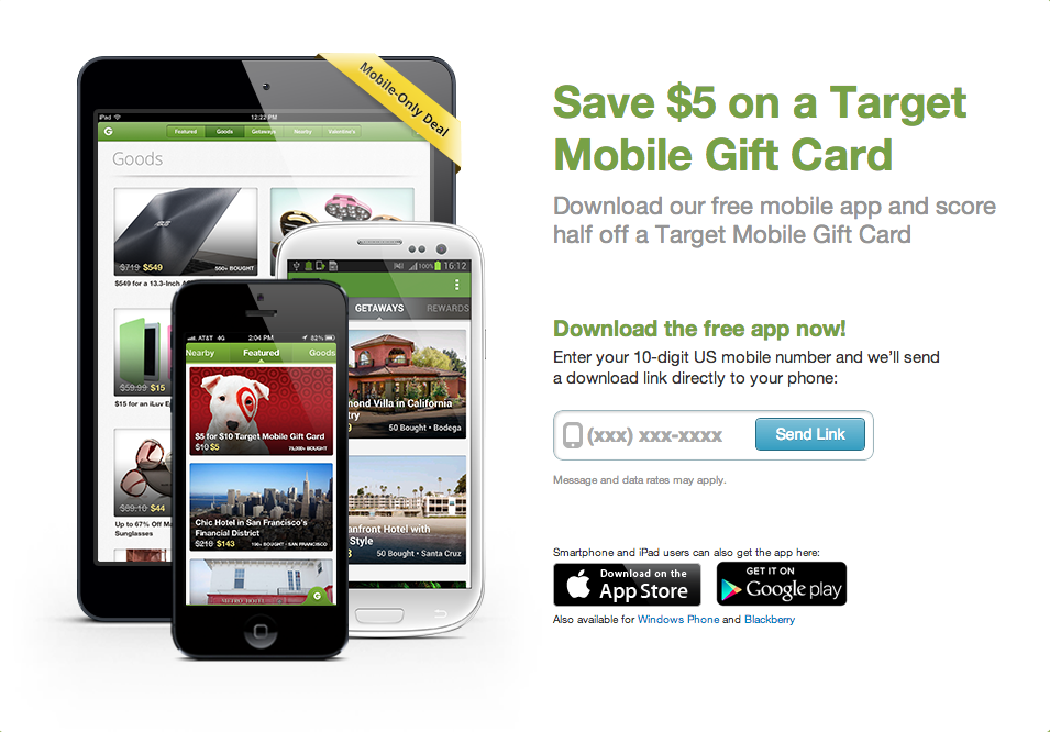 Get a free 10 00 target mobile gift card for only 5 00 just for