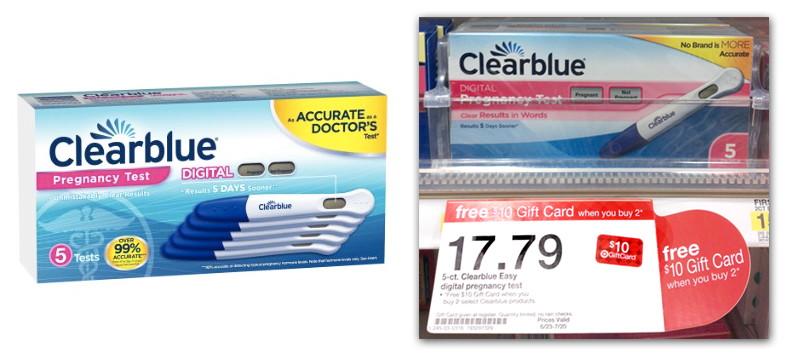 clearblue digital pregnancy tests buy 2 get target gift card the krazy coupon lady. Black Bedroom Furniture Sets. Home Design Ideas