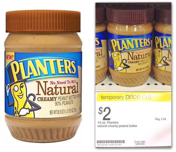Target Planters Peanuts Planters Peanut Butter is Only