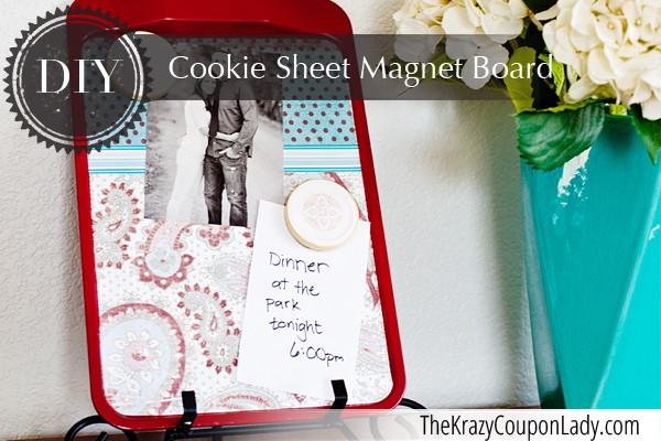 DIY: Cookie Sheet Magnet Board