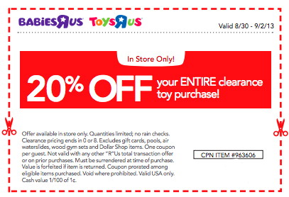 Toys r us discount coupons