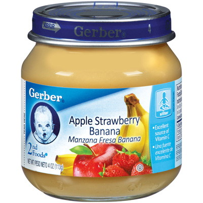 Gerber Baby Food In Bottle