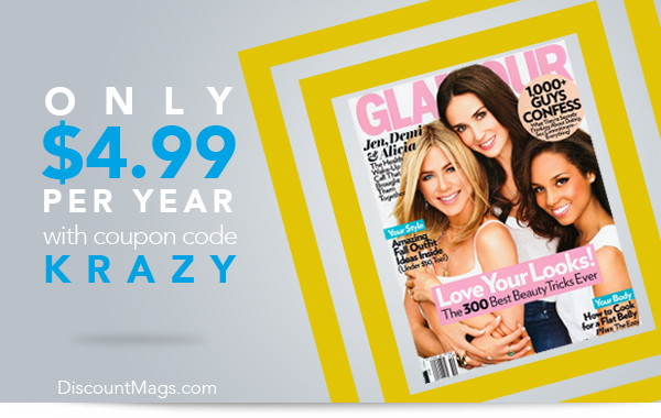 Glamour Magazine, Only $4.99 per Year!