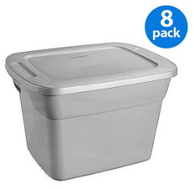 today only get an 8pack of sterilite 18gallon storage totes for at walmart thatu0027s only 400 each the same brand and size of storage totes in a - Sterilite Storage Bins