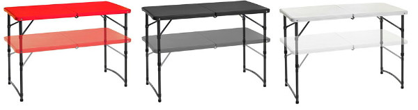 Adjustable Folding Tables: Set Of 2, Only $19.50 Eachu2014Today Only!