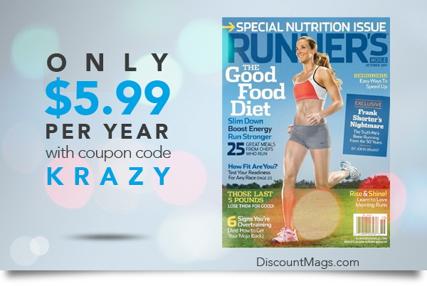 Runner's World Magazine, Only $5.99 per Year!