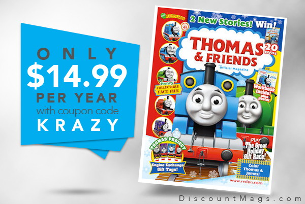 Thomas & Friends Magazine, Only $14.99 per Year!