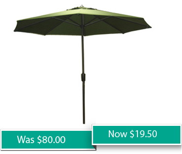 Itu0027s Time For End Of Season Clearance! Loweu0027s Is Offering A Garden  Treasures 8u002710u201d Round Market Umbrella At A 75% Savingsu2014just $20.00.