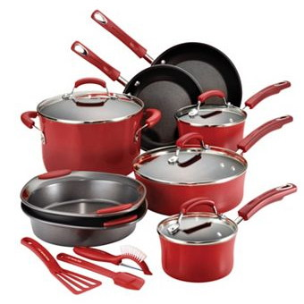 rachael ray 15piece porcelain cookware set only 61 shipped the krazy coupon lady