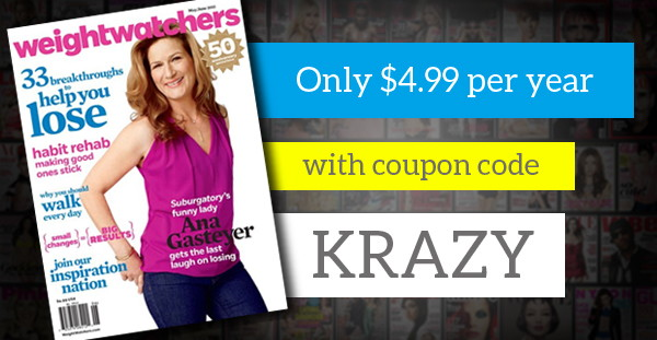 Weight Watchers Magazine, Only $4.99 per Year!
