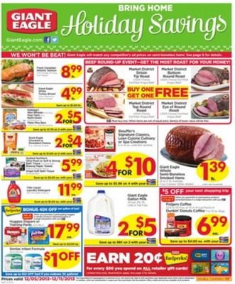 Giant Eagle Coupon Deals: Week of 12/5