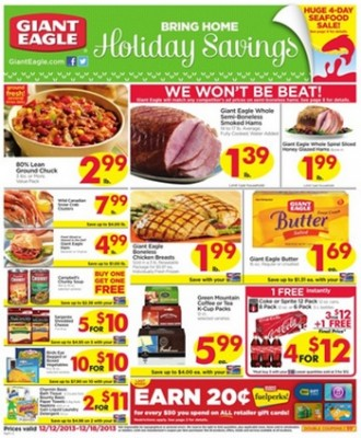 Giant Eagle Coupon Deals: Week of 12/12