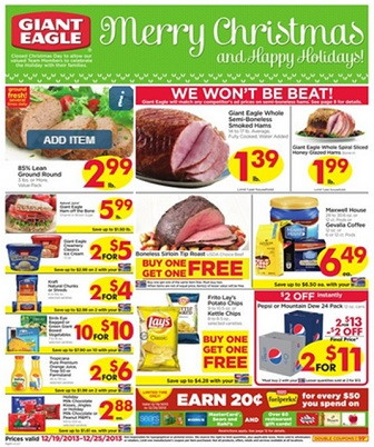 Giant Eagle Coupon Deals: Week of 12/19