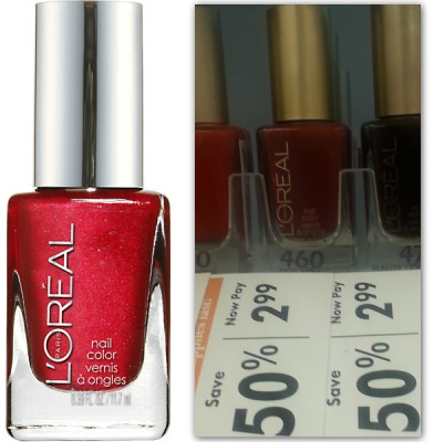 L'Oreal Nail Polish, Only $1.99 at Giant Eagle!