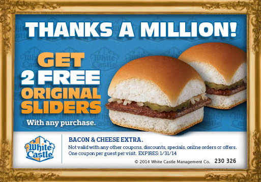 White Castle Coupon
