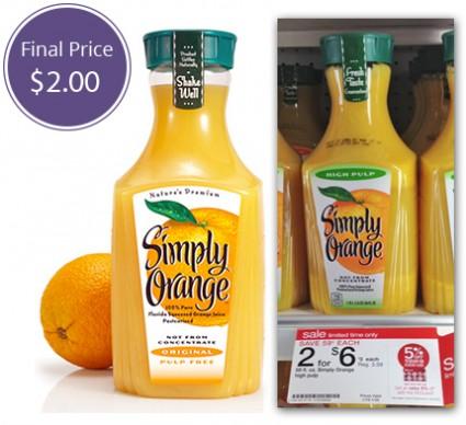 Simply Orange Juice Target